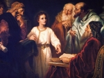 Young Jesus among  the doctors of the law