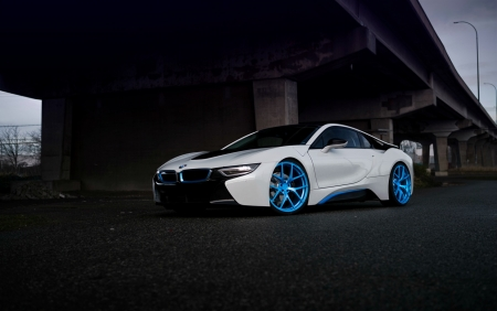 Bmw I8 On Pur 4our By Pur Wheels Bmw Cars Background Wallpapers