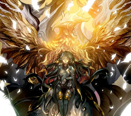 Phoenix Girl - Other & Anime Background Wallpapers on ...