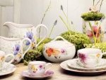 colorful springtime tea