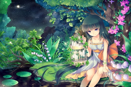 Lilly of th Valley Fairy - anime, flower, lilly, fairy, valley