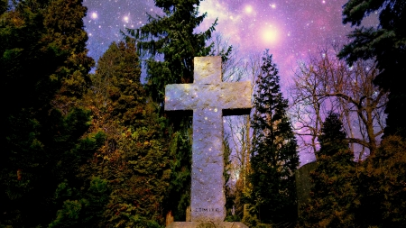 It is all paid - stars, tree, Cross, cemetry