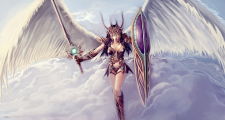 Fantasy Girl - art, fantasy, girl, angel