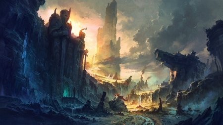 The Lost City - fantasy, city, epic, dungeon, lost, ruins, magic, castle