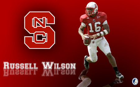 Russell Wilson - carolina, wolfpack, football, nc state, ncsu, quarterback, college, wilson