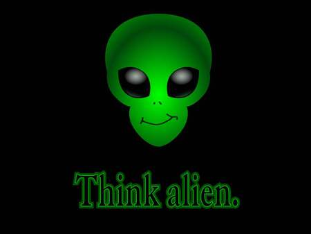 alien - head, green, alien, wallpaper