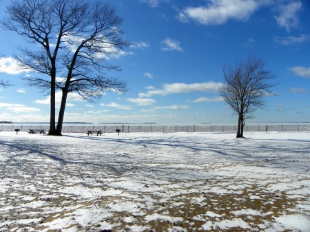 winter at the beach - snow, wescotts beach, ice, lake ontario, winter