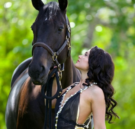 Friends - Beauty, Lovely, Beautiful, Girl, Woman, horse, Beaut