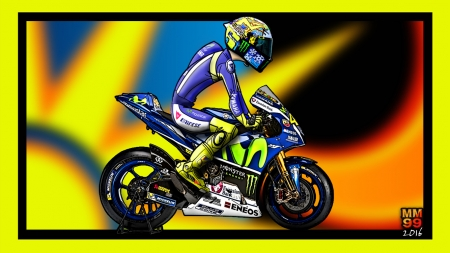 Valentino Rossi 2016 Yamaha Motorcycles Background Wallpapers On