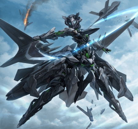 Mecha Girl Mecha Jets Girl Anime Black Armor Sword
