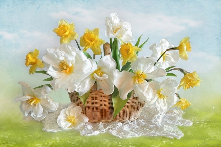 Spring holiday - flowers, Spring, holiday, basket