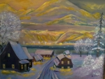 Quebec nature painted by saad antoine kilo