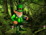 Leprechaun and His Pot of Gold