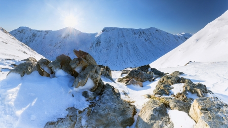 Mountain - snow, rock, winter, Mountain