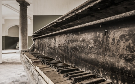 Old Piano - Piano, photography, keyboard, music