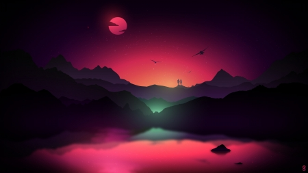 Vector Landscape Fantasy Abstract Background Wallpapers
