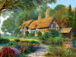 Lovely Cottage In Spring