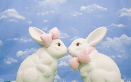 Easter Bunnies - Easter, white, bunnies, animal