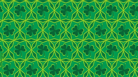 Irish Chain Shamrock Quilt 1 Of 2 Textures Abstract