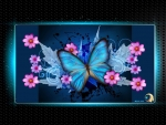 BUTTERFLY Blue Glowing Happiness