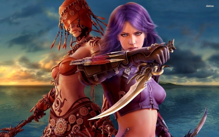 guild wars - wars, guild, girl, sword