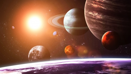 Extra Planets - stars, planets, 3d, cg, space, galaxy