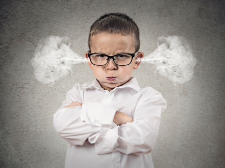 Angry - glasses, steam, mood, angry, cute, boy, grey, copil, child, funny, white