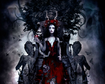 Dark Queen Fantasy Abstract Background Wallpapers On Desktop