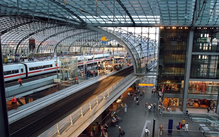 Berlin Central Station - berlin, germany, rail, central station
