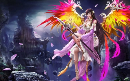 Phoenix Winged Angel Fantasy Abstract Background Wallpapers On