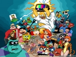 retro cartoon charactors