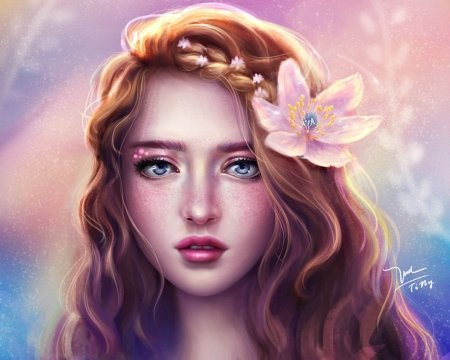 951ac72a7a Spring princess - Fantasy   Abstract Background Wallpapers on ...