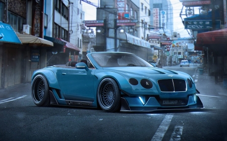 Bentley - concept, bently, Car, blue