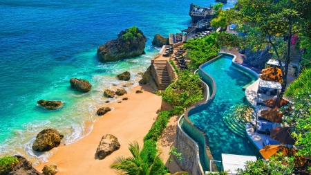 Resort In Bali Beaches Nature Background Wallpapers On