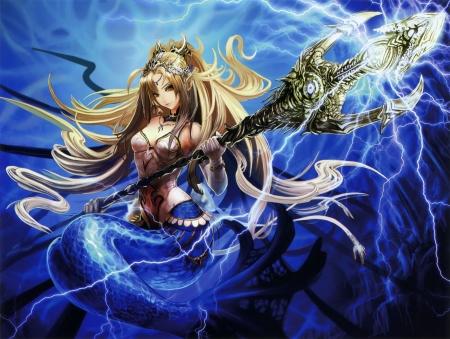 Mermaid - Other & Anime Background Wallpapers on Desktop ... Шатенка Арт