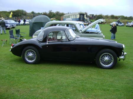 MGA 1950 - black, classic, sports, car