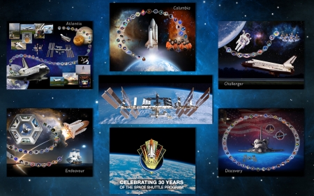 Space Shuttle Anniversary - challenger, endeavour, space, flight, atlantis, shuttle, discovery, columbia, space station