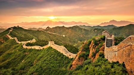 Wall Of China Ancient Architecture Background Wallpapers On