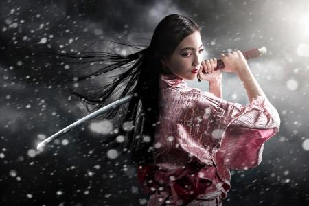 Asian samurai girl