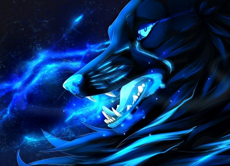 Dark Wolf Fantasy Abstract Background Wallpapers On