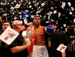 Anthony Joshua celebrates becoming World Champion