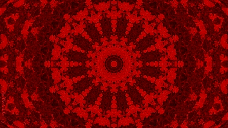 Real Reality Red - kaleidoscope, kaleidoscopes too1, red, embossed, lacey, scarlet, lace