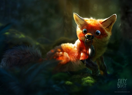 Silly Fox Fantasy Abstract Background Wallpapers On