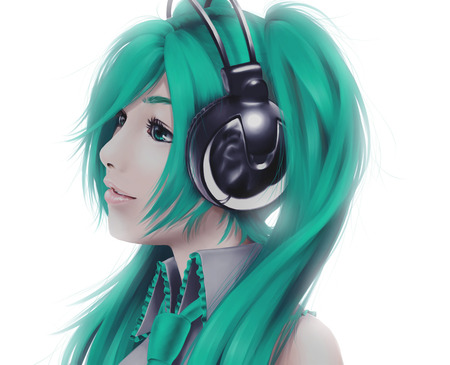 The real Miku - vocaloid, anime, headphones, beauty, miku hatsune, idol