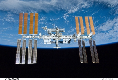 The International Space Station over Earth - cool, space, fun, space station, earth