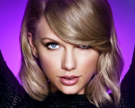 Taylor Swift - black, blonde, woman, singer, Taylor Swift, girl, blue eye, beauty, face, pink