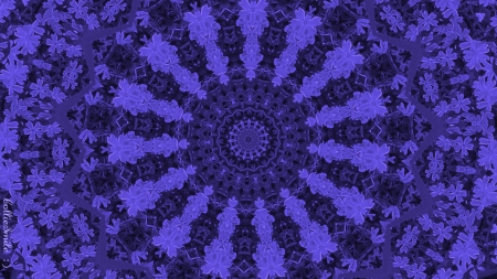 Veracious Blue-Violet - kaleidoscope, kaleidoscopes too1, blue violet, embossed, purple, violet