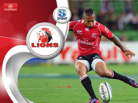 Lions Super Rugby Eltjon Jantjies Rugby Sports Background