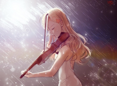 her last song in the rain - emo, zexon, gothic, darkness