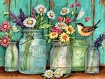 Flowers in Mason Jars F1